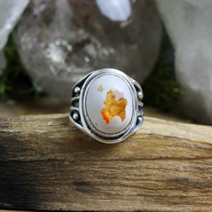 Warrior Ring // Mexican Fire Opal - Size 7 - acid-queen-jewelry, All Products - acid-queen-jewelry, Acid Queen Jewelry - acid-queen-jewelry,  Acid Queen Jewelry - acid-queen-jewelry