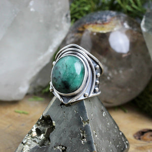 Warrior Ring // Emerald - Size 9 - acid-queen-jewelry, All Products - acid-queen-jewelry, vendor-unknown - acid-queen-jewelry,  Acid Queen Jewelry - acid-queen-jewelry