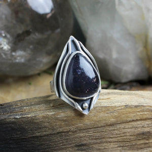 Warrior Ring // Iolite - Size 9 - Acid Queen Jewelry