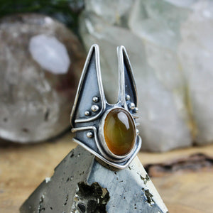 Warmaster Ring // Carnelian- Size 9.5 - Acid Queen Jewelry