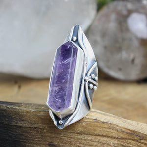 Amplifier Ring // Amethyst- Size 7.5 - Acid Queen Jewelry