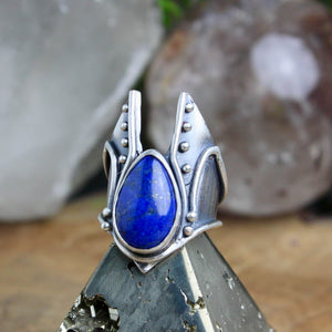 Warmaster Ring // Lapiz Lazuli - Size 8.5 - Acid Queen Jewelry