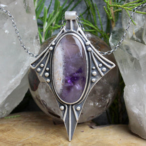 Voyager  Necklace //  Amethyst - Acid Queen Jewelry