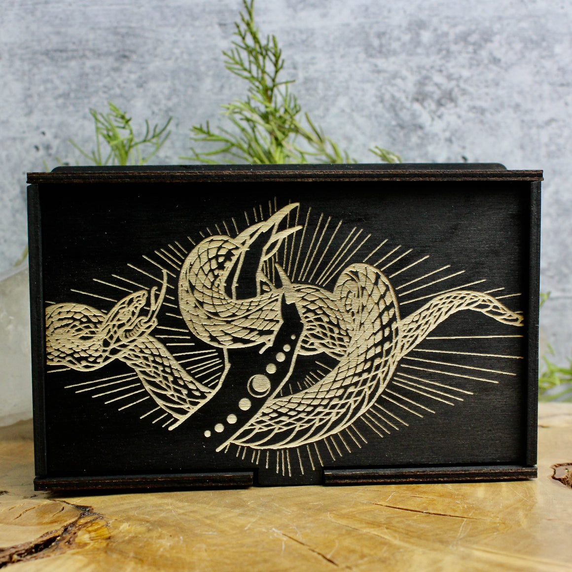 Diamond Snake Tarot Card Box // Jewelry Box - Acid Queen Jewelry