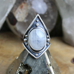 Warrior Ring // Dendritic Agate- Size 8.5 - Acid Queen Jewelry