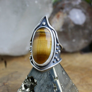 Warrior Ring // Tigers Eye - Size 9.5 - Acid Queen Jewelry