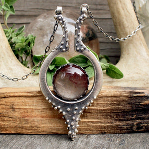 Kreia Pendant // Rutilated Quartz - acid-queen-jewelry, All Products - acid-queen-jewelry, vendor-unknown - acid-queen-jewelry,  Acid Queen Jewelry - acid-queen-jewelry