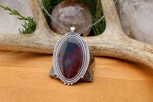 Voyager Pendant // Bloodstone - acid-queen-jewelry, All Products - acid-queen-jewelry, vendor-unknown - acid-queen-jewelry,  Acid Queen Jewelry - acid-queen-jewelry