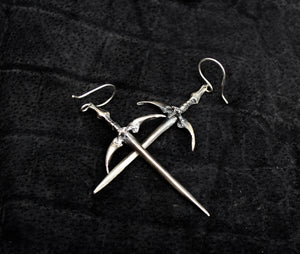 Sorcerer Sword Dangles - acid-queen-jewelry, All Products - acid-queen-jewelry, vendor-unknown - acid-queen-jewelry,  Acid Queen Jewelry - acid-queen-jewelry