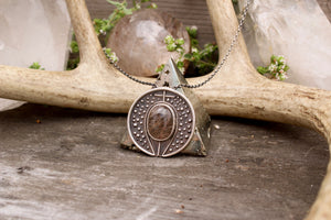 Voyager Pendant // Rutilated Quartz - acid-queen-jewelry, All Products - acid-queen-jewelry, vendor-unknown - acid-queen-jewelry,  Acid Queen Jewelry - acid-queen-jewelry