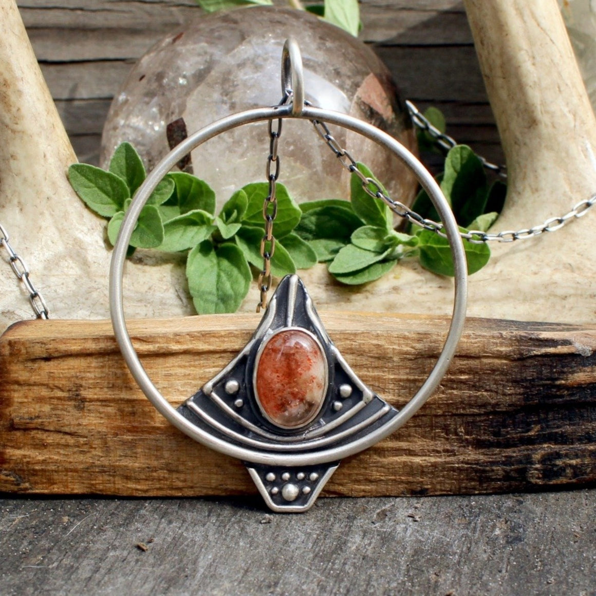 Sela Pendant // Sunstone // Above + Below - acid-queen-jewelry, All Products - acid-queen-jewelry, vendor-unknown - acid-queen-jewelry,  Acid Queen Jewelry - acid-queen-jewelry