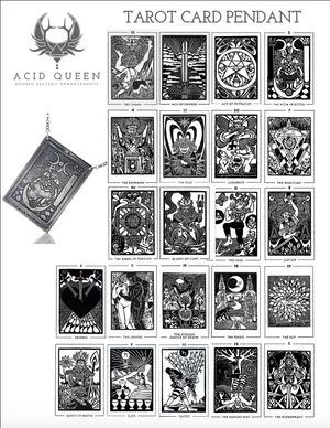 Tarot Card Pendant - acid-queen-jewelry, All Products - acid-queen-jewelry, vendor-unknown - acid-queen-jewelry,  Acid Queen Jewelry - acid-queen-jewelry