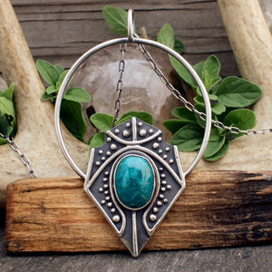 Siona Pendant // Chrysocolla - acid-queen-jewelry, All Products - acid-queen-jewelry, vendor-unknown - acid-queen-jewelry,  Acid Queen Jewelry - acid-queen-jewelry
