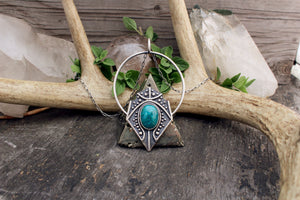 Siona Pendant // Chrysocolla // Above + Below - acid-queen-jewelry, All Products - acid-queen-jewelry, vendor-unknown - acid-queen-jewelry,  Acid Queen Jewelry - acid-queen-jewelry