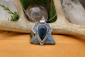 Voyager Pendant // Moss Agate - Acid Queen Jewelry