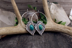Siona Earrings // Chrysocolla // Above + Below - acid-queen-jewelry, All Products - acid-queen-jewelry, vendor-unknown - acid-queen-jewelry,  Acid Queen Jewelry - acid-queen-jewelry