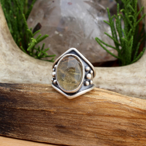 Warrior Ring // Citrine - SIZE 6 - acid-queen-jewelry, All Products - acid-queen-jewelry, vendor-unknown - acid-queen-jewelry,  Acid Queen Jewelry - acid-queen-jewelry