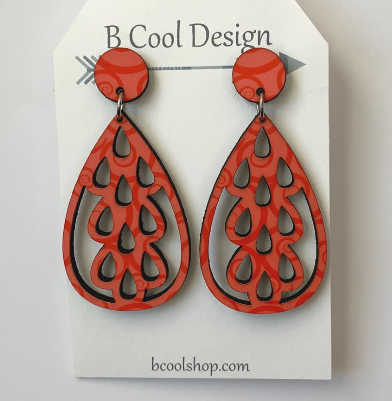 sw05 Lacy Coral Earring