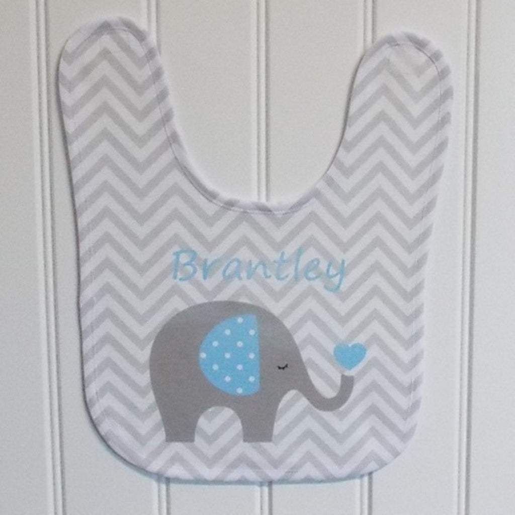 bb16 Blue Elephant Bib