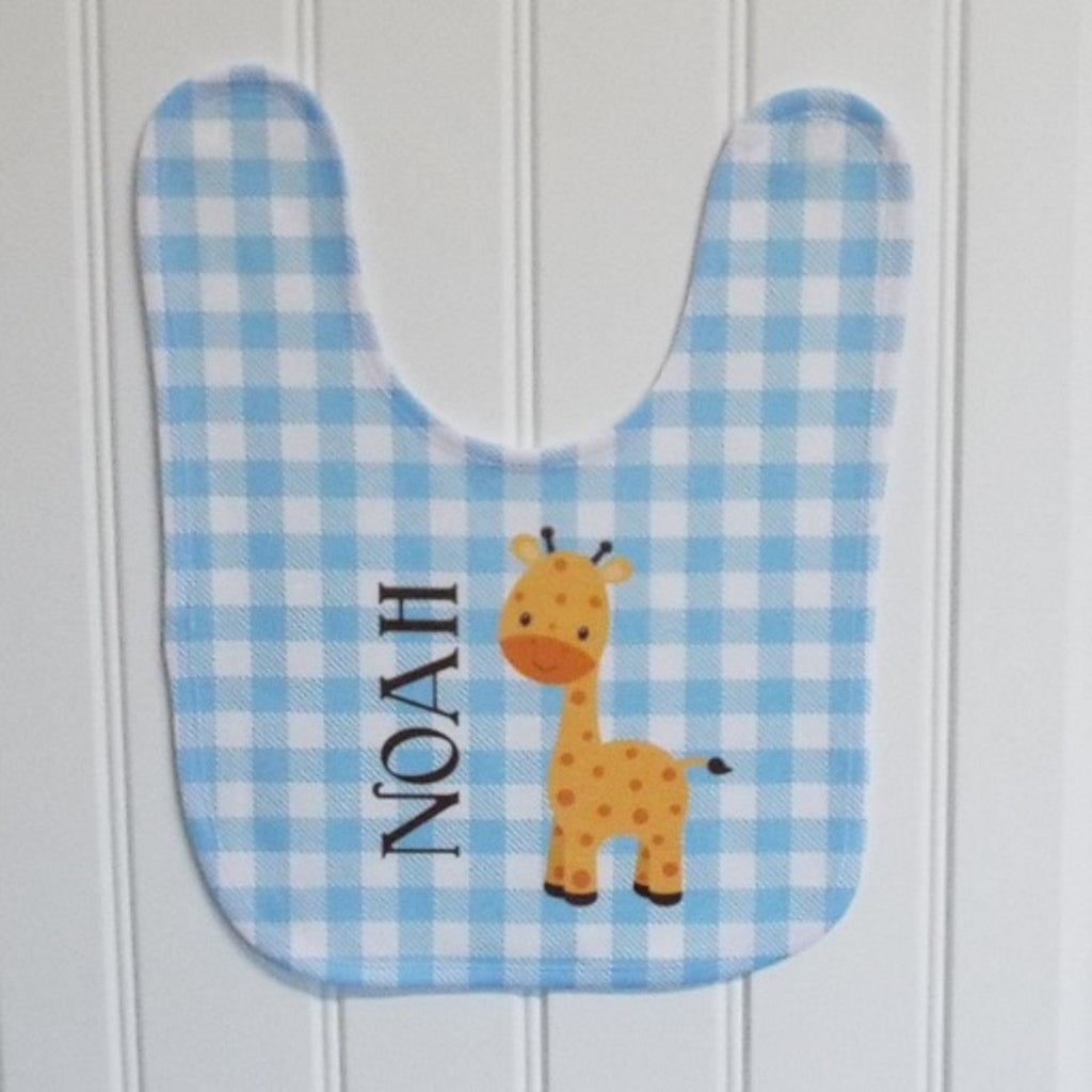 bb20 Blue Giraffe Bib