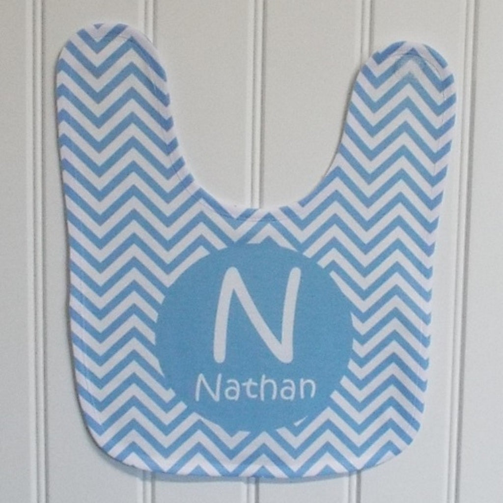 bb23 Blue Chevron Bib