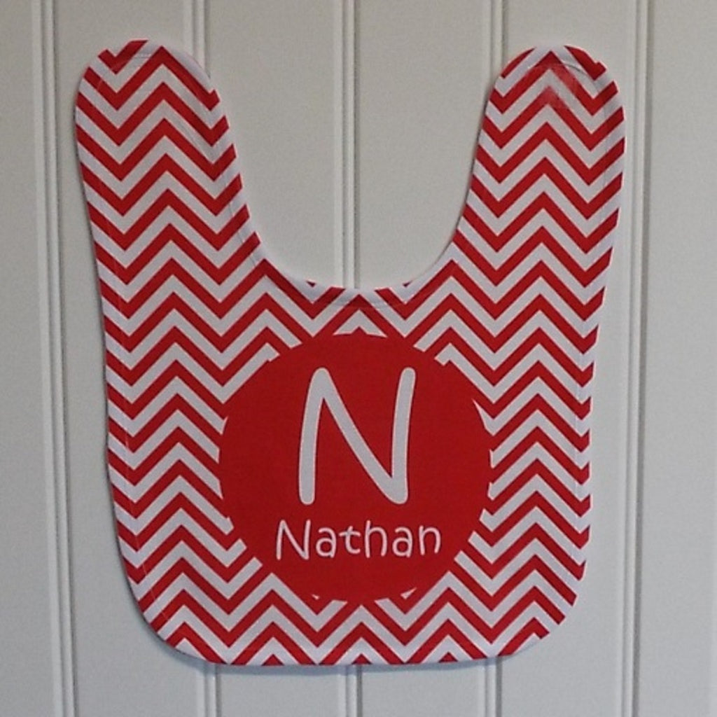 bb25 Red Chevron Bib