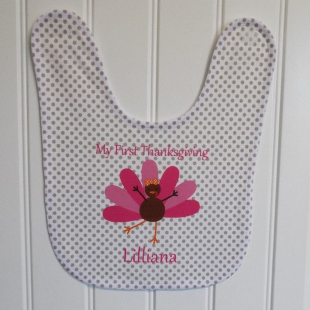 bb37 Pink Turkey Bib