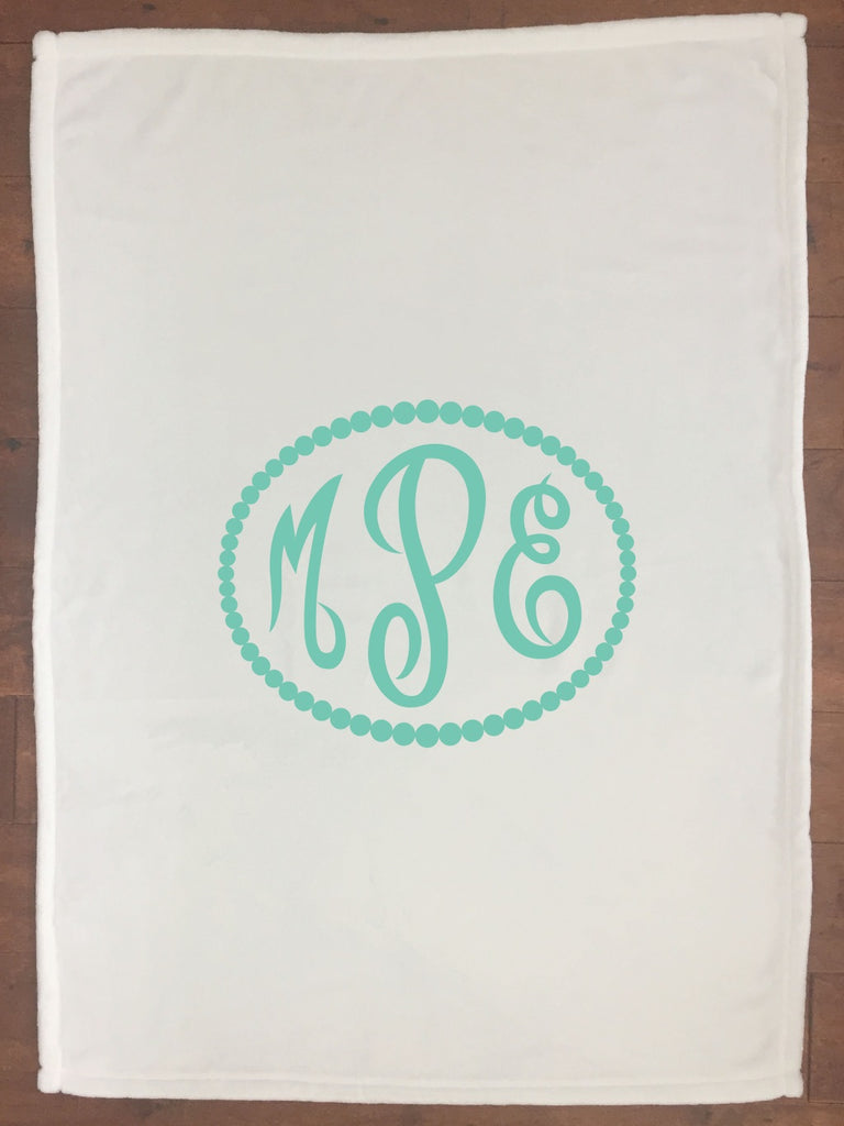 bk018 Mint Monogram Blanket