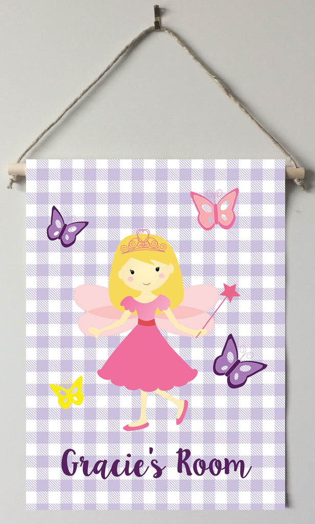 dk44-blonde Fairy Door/Wall Sign