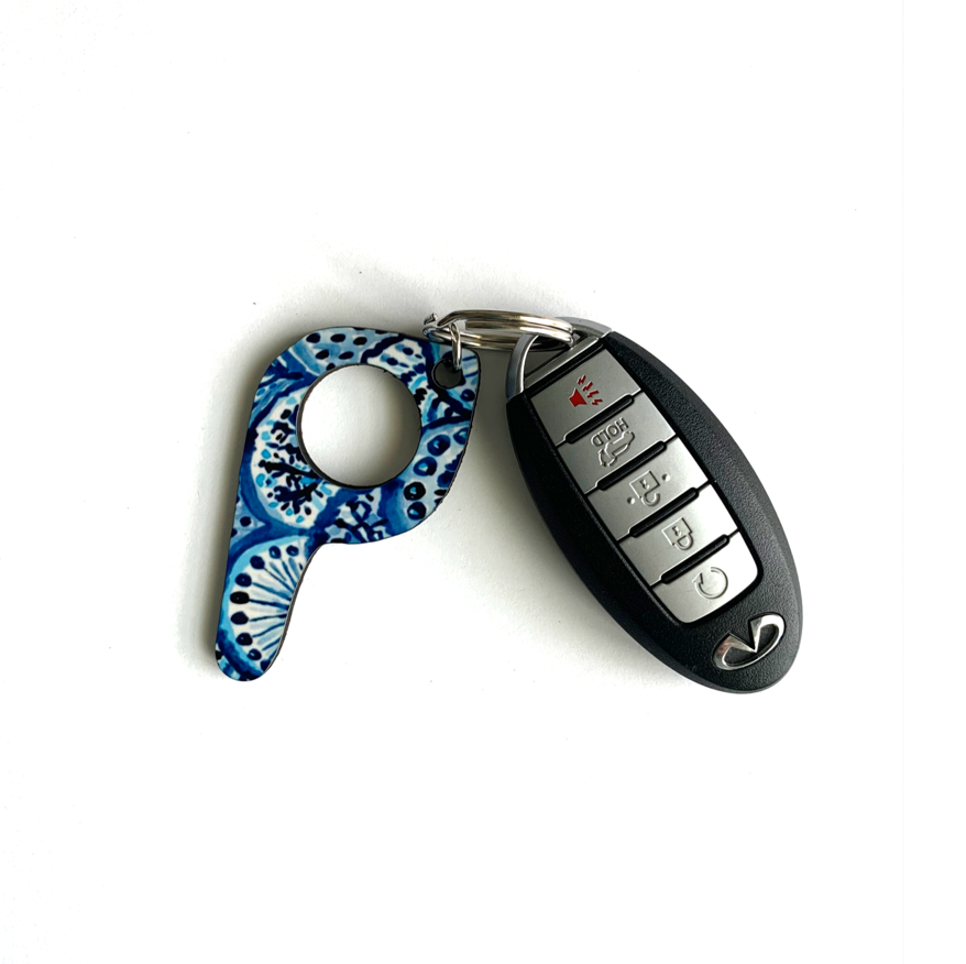 bp04 Blues Button Pusher Key Chain