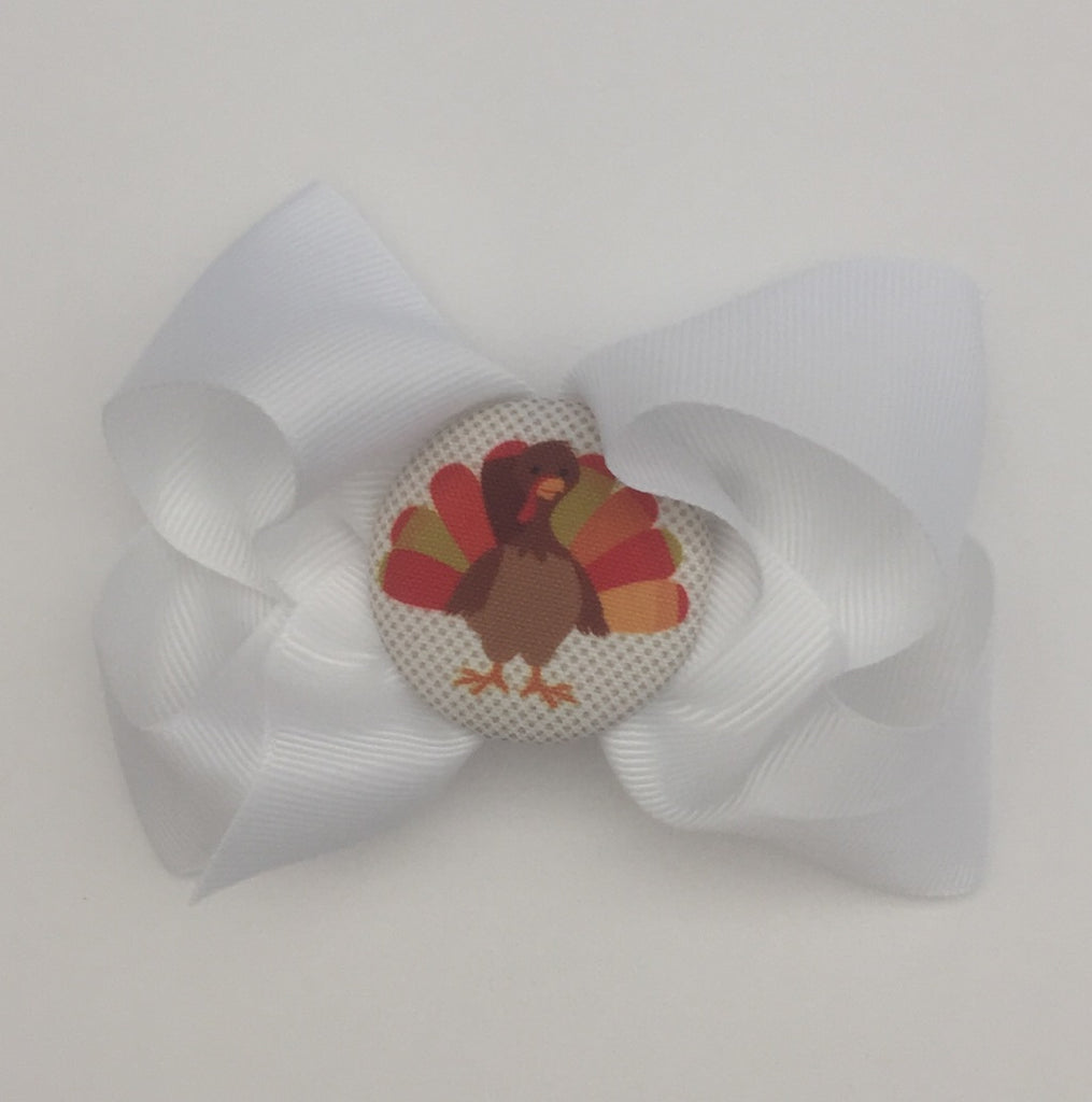 bw06 Brown Turkey Hairbow