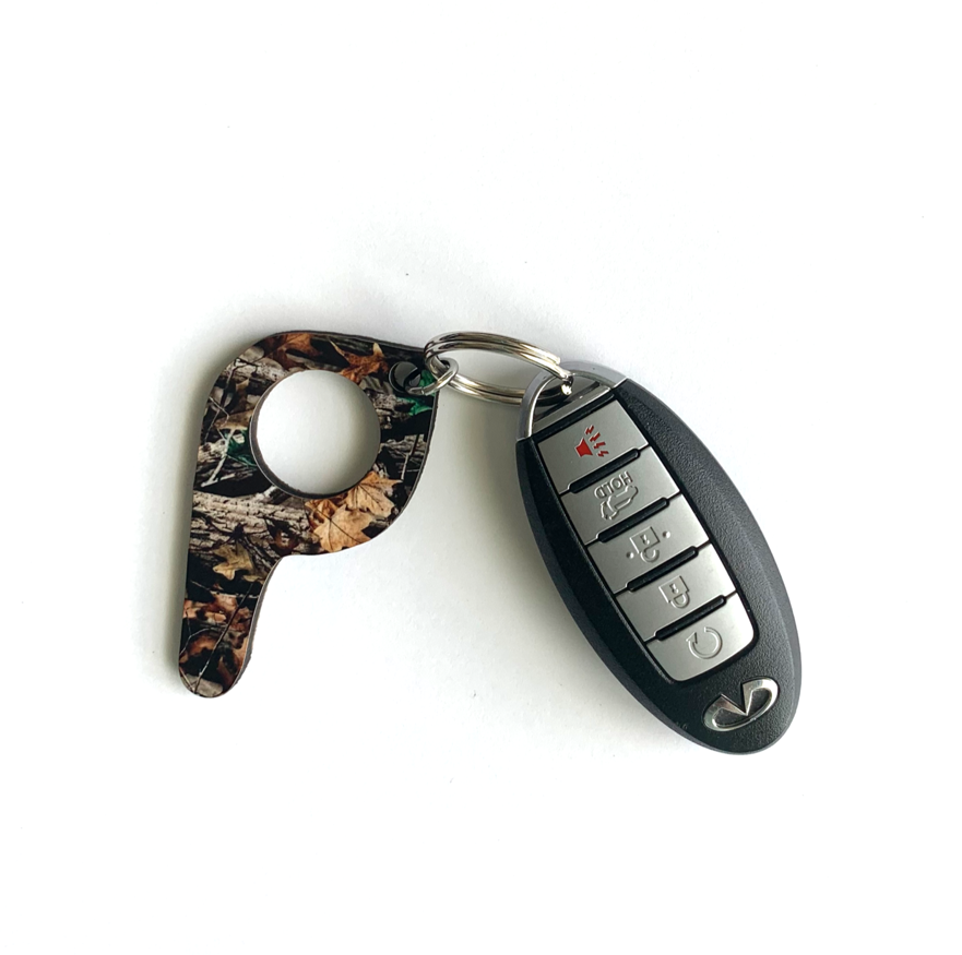 bp02 Real Tree Camo Button Pusher Key Chain