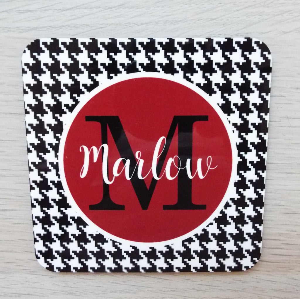 co9 Houndstooth Coaster