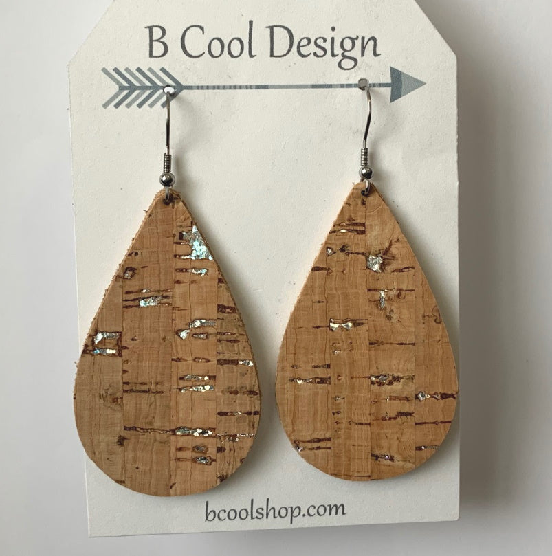 gl05 Cork Leather Earring
