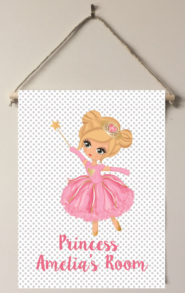 dk01 Princess Door/Wall Sign