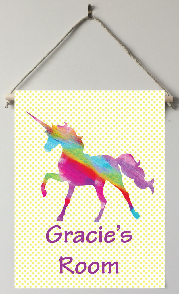 dk02 Rainbow Unicorn Door/Wall Sign