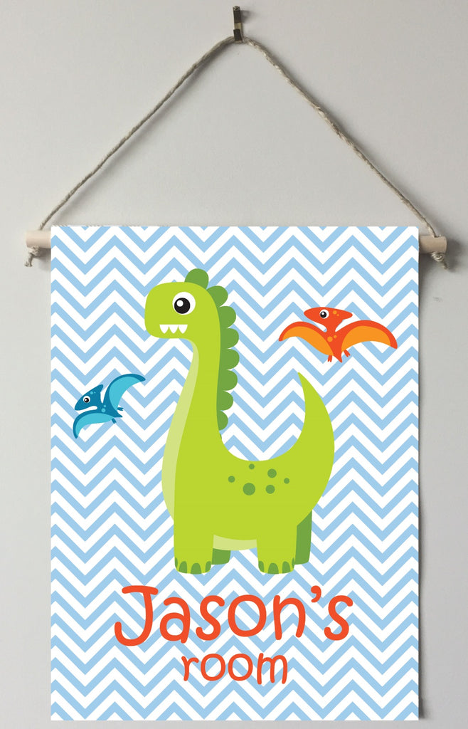 dk34 Green Dinosaur Door/Room Sign