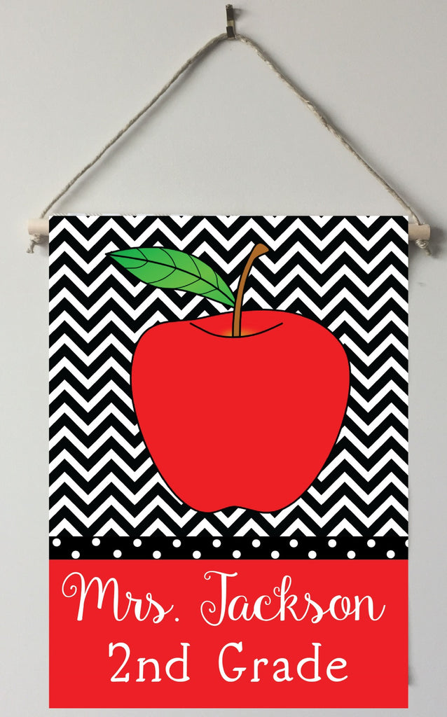 dt02 Chevron Teacher Door/Room Sign