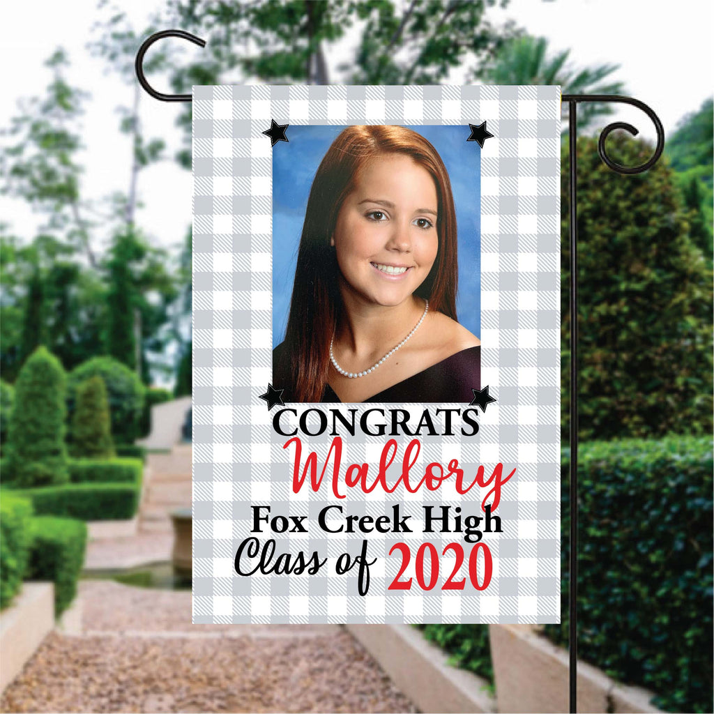 fg145 Custom Photo Graduation Flag