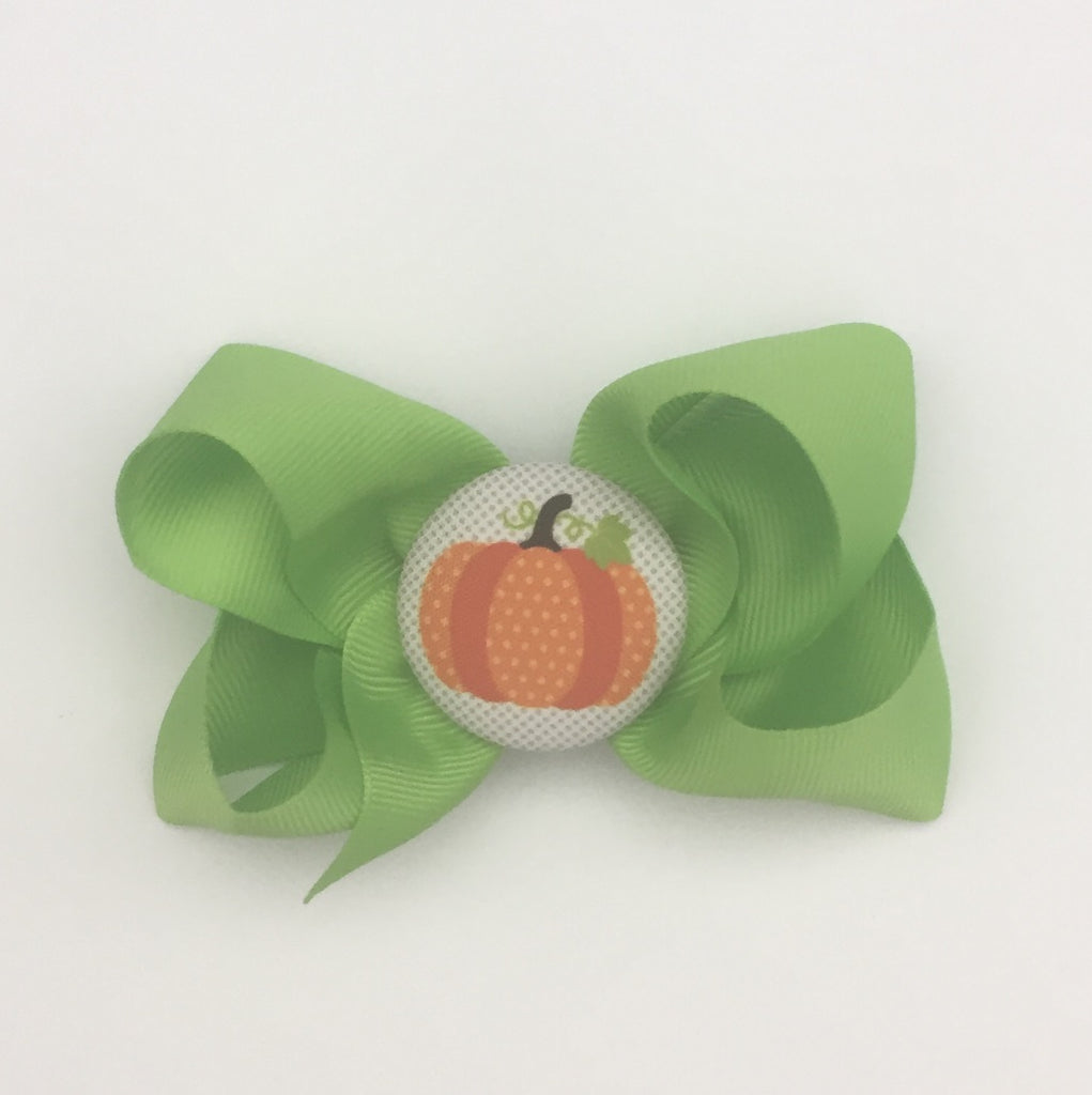 bw04 Orange Pumpkin Hairbow