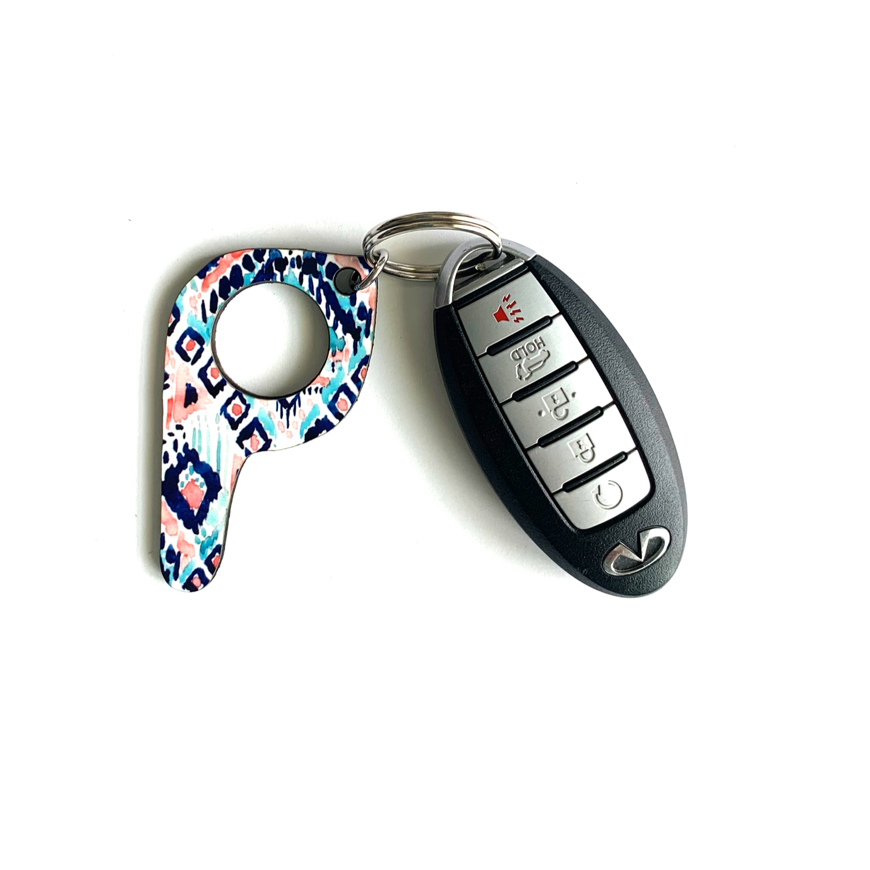 bp07 Ikat Button Pusher Key Chain
