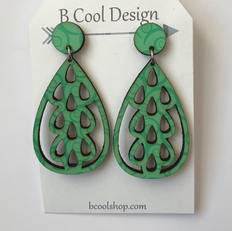 sw08 Lacy Bright Green Earring