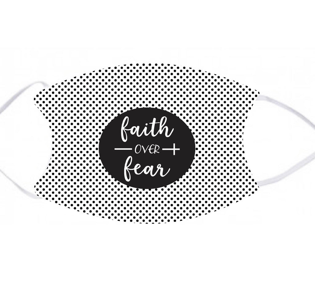 lmk05 Faith Over Fear Adult Face Mask