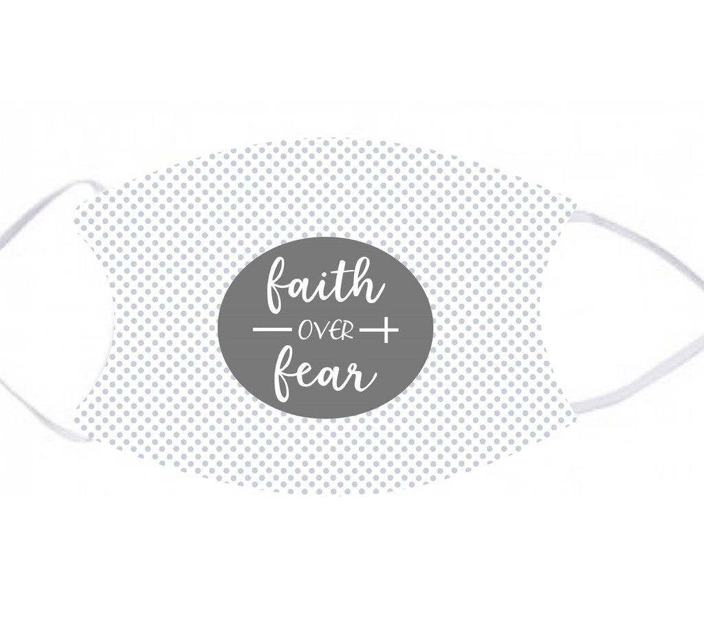 lmk06 Faith Over Fear Adult Face Mask
