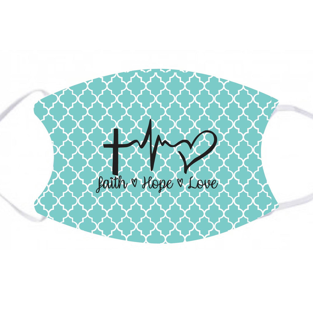 lmk04 Faith Hope Love Adult Face Mask