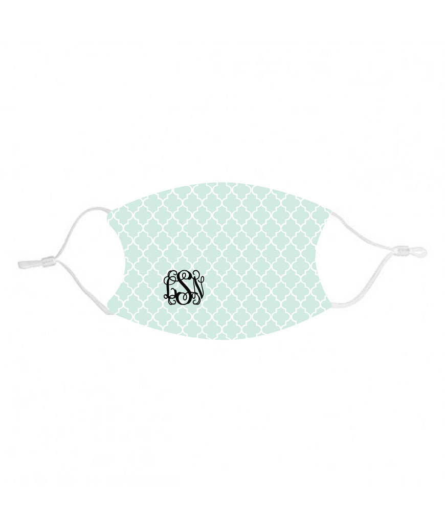 mk26-M Mint Monogram Kids Face Mask