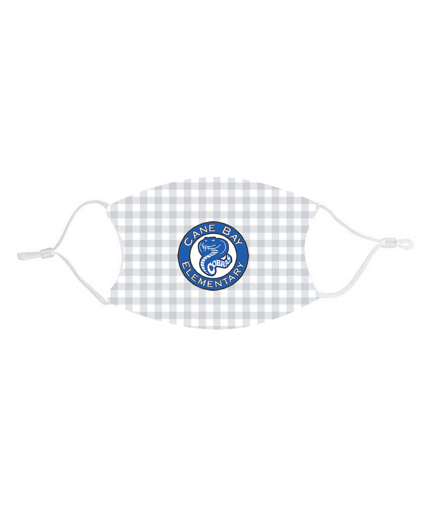 mk30 Cane Bay Elem Gray Plaid Kids Face Mask