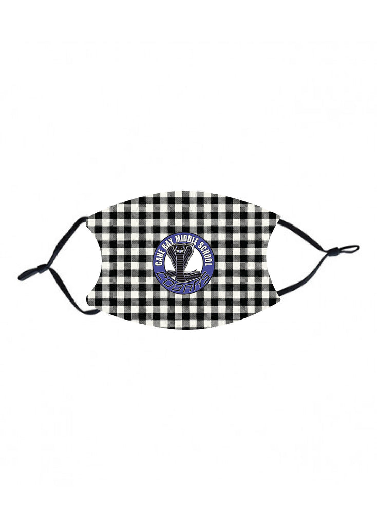mk35 Cane Bay Middle black plaid Kids Face Mask