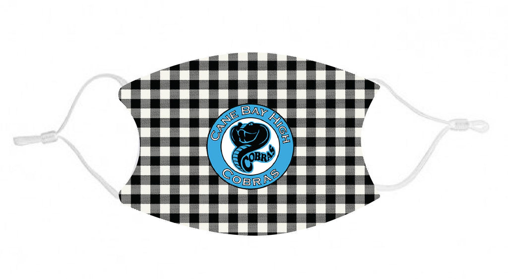 mk39 Cane Bay black plaid Adult Face Mask