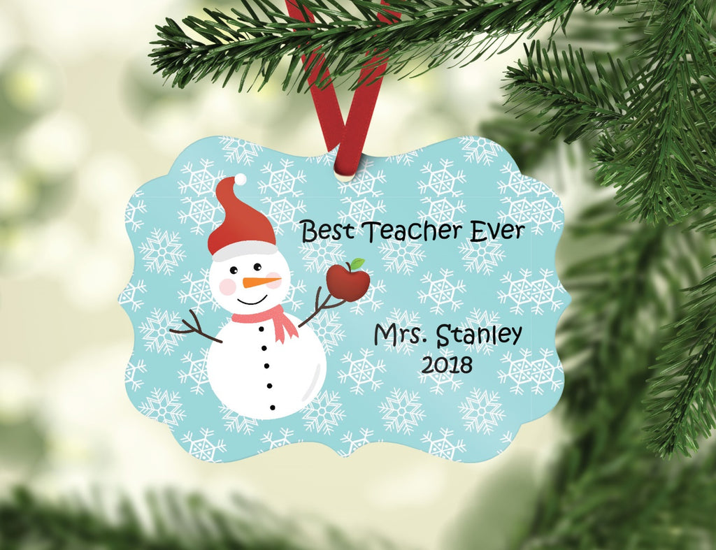 or11 Teacher Snowman Ornament